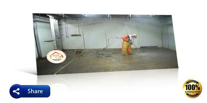 عملية تنظيف الخزان